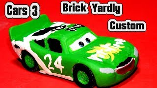 Pixar Cars 3 Custom Brick Yardley with Fabulous Miss Fritter and Primer Lightning McQueen