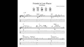 """This is a fingerstyle guitar version of garth brooks """"friends in low places"""". the full sheet music available on musicnotes at https://www.musicnotes.com/..."""