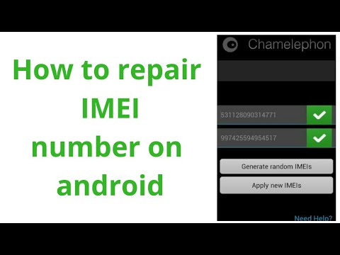 how to repair imei number in android 2019 | with chamelphone