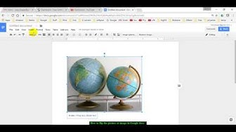 How to flip the picture or image in Google docs
