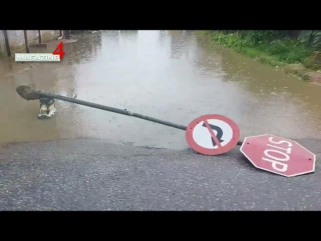 Beelden wateroverlast;