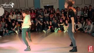 Siberian Dancehall Contest 2015 - Dancehall 2x2 - 1/2 final - Julia & Olya vs. Sofa & Maru