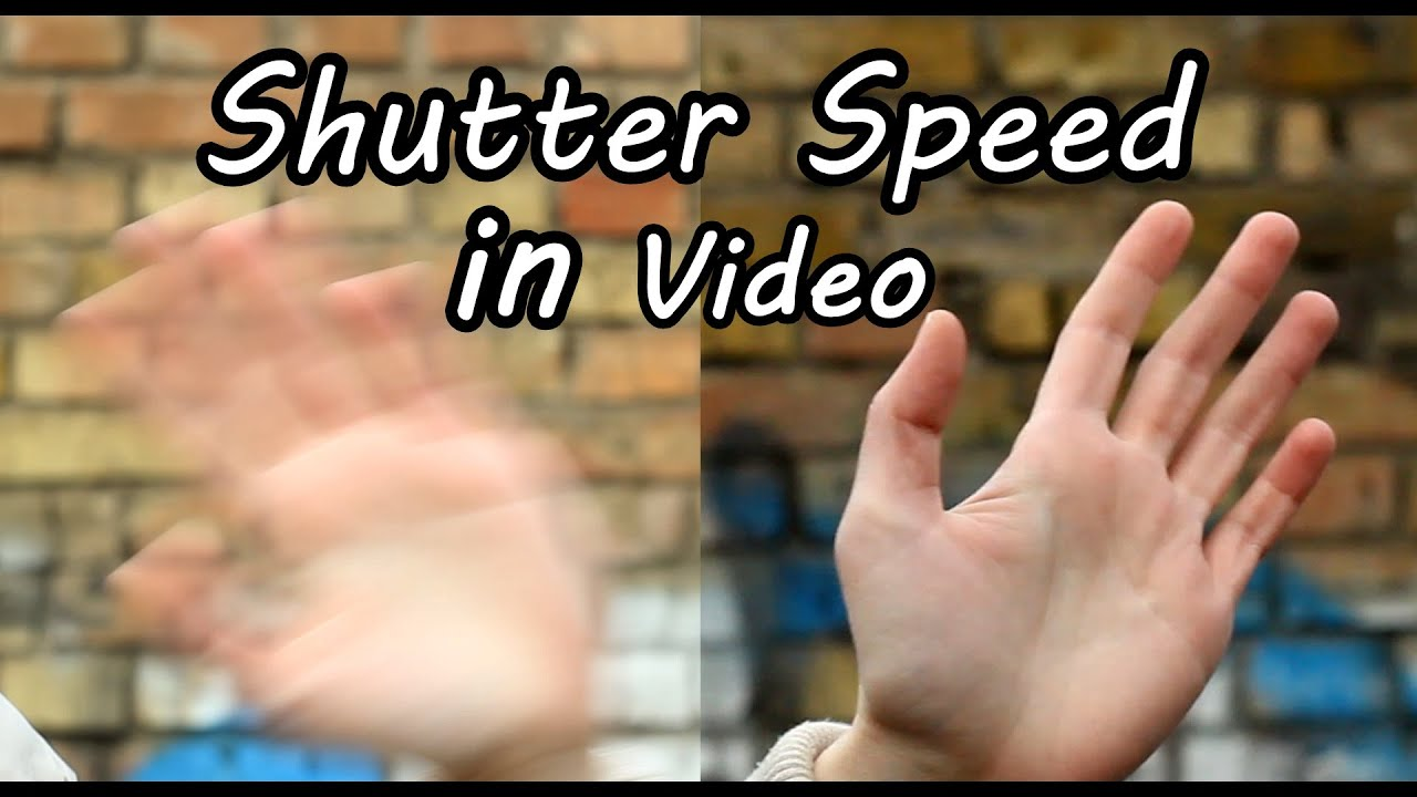 Camera What Is Shutter Speed In Dslr Camera how to use shutter speed in video on dslr camera exposure tutorial and comparison