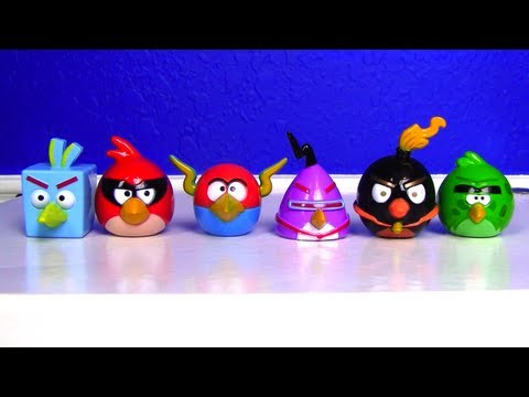 AWESOME Angry Birds SPACE toy with red LASER!!!