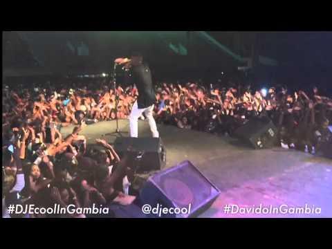 DJ ECool Hosts Davido's Concert In Gambia