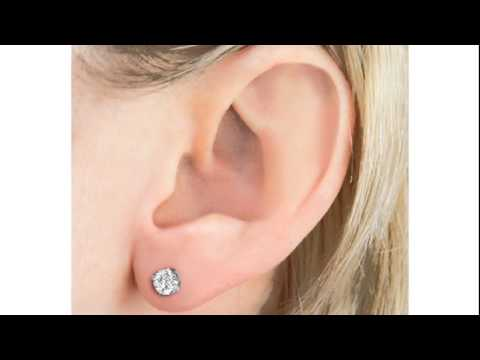 michaels lee earrings diamond solitaire stud carat round