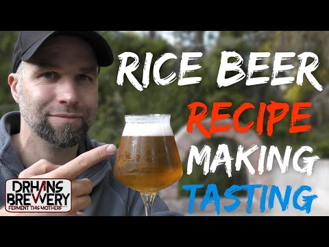 Rice Beer All Grain Recipe in-depth Brewing Video