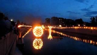 Мадрид река Мансанарес, огненное шоу 13 05 11 2