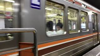 大阪メトロ堺筋線南森町駅普通正雀行き66系66911F未更新車発車
