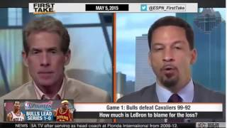 ESPN First Take Derrick Rose Lead Chicago Bulls Beats LeBron James & Cavaliers in Game 1