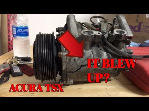 How To Replace AC Compressor on 2005 Acura
