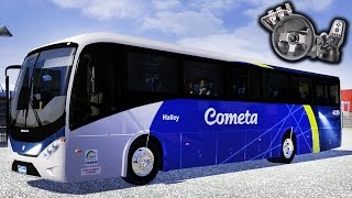 Euro Truck Simulator 2 - Mod Bus - Volkswagen Ideale 770 - Viação Cometa - Com Logitech G27