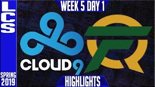 C9 vs FLY Highlights   LCS Spring 2019 Week 5 Day 1   Cloud9 vs FlyQuest