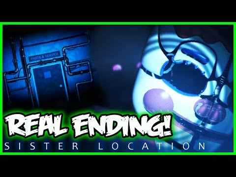 FNAF Sister Location REAL ENDING! NEW ANIMATRONIC - Five Nights at Freddy's Sister Location Gameplay