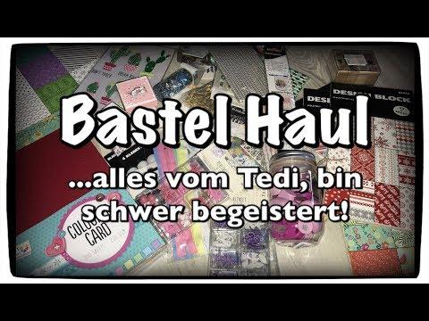 Bastel Haul (deutsch) Tedi Haul, Scrapbook basteln mit Papier, DIY