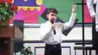 """PS22 Chorus Justin """"I WONDER AS I WANDER"""" Christmas Traditional"""