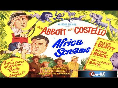 Africa Screams 1949 Bud Abbott, Lou Costello, Shemp Howard, Joe Besser