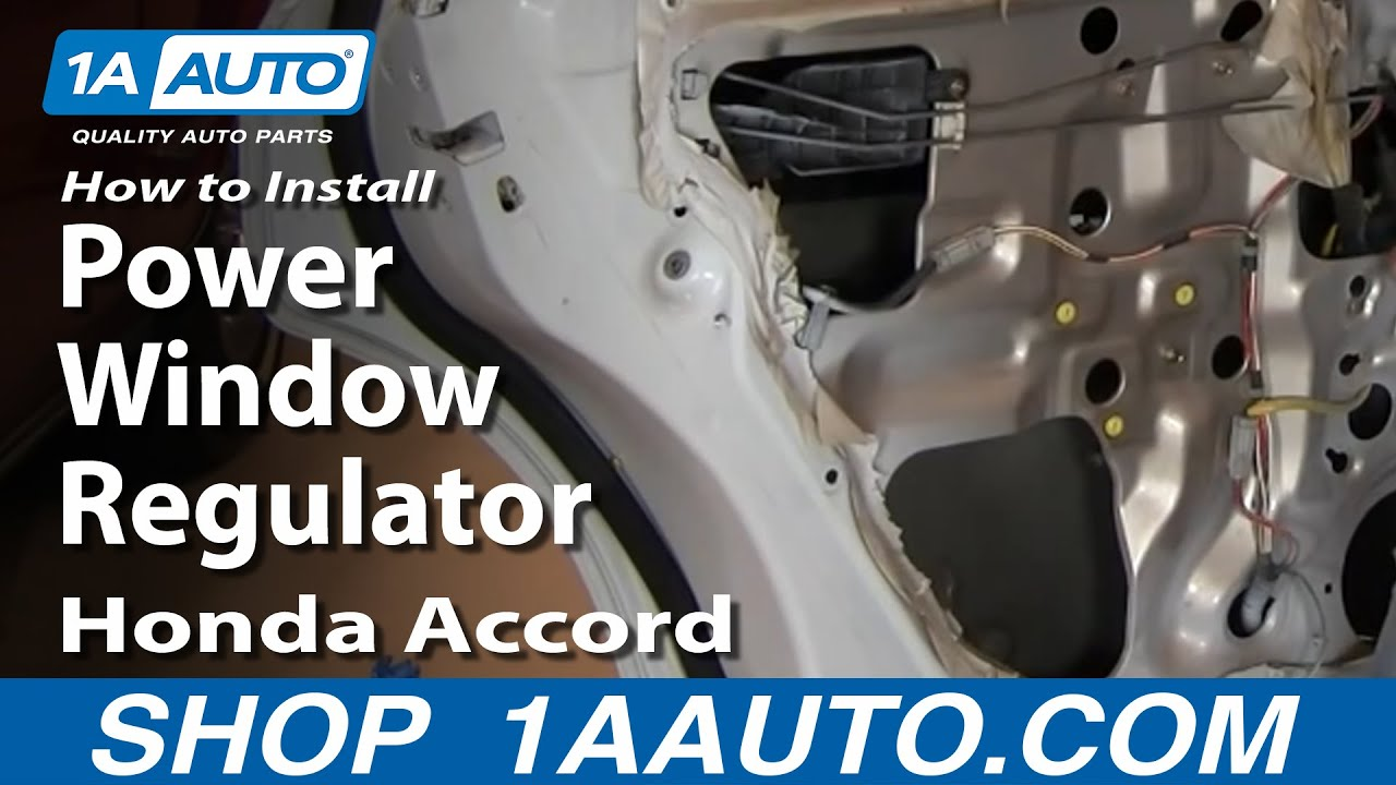 How To Install Replace Rear Power Window Regulator Honda