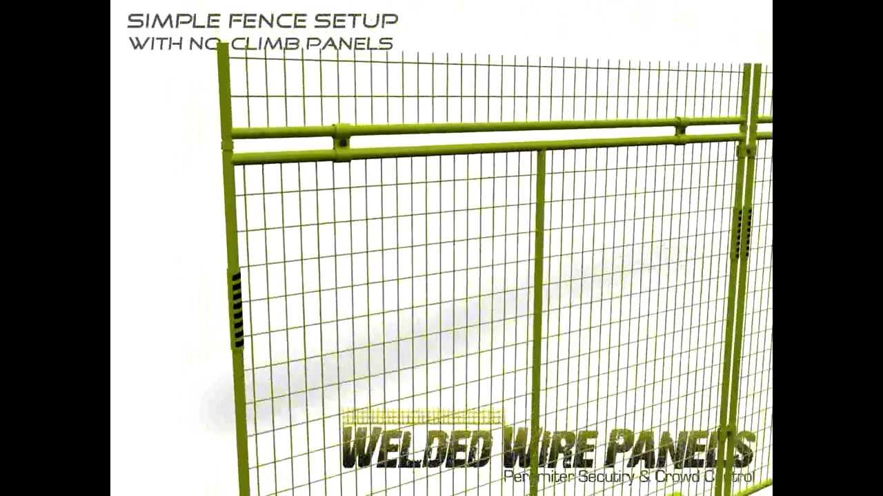 Temporary Fence Assembly - Welded Wire Panels - YouTube