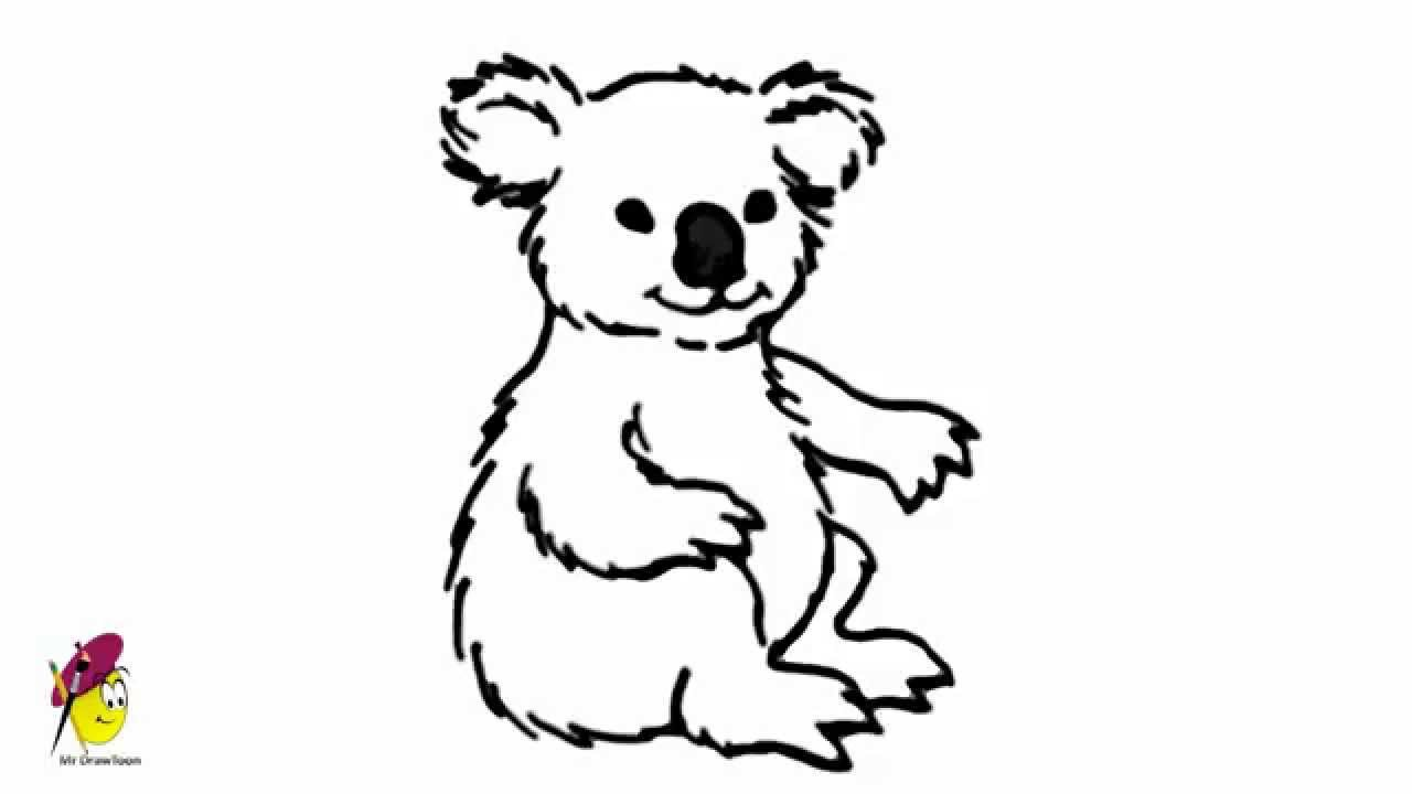 Uncategorized Draw Koala koala easy drawing how to draw animals youtube