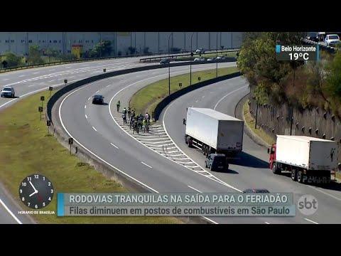 Mesmo sem bloqueio de caminhoneiros, movimento nas estradas é baixo   SBT Brasil (31/05/18)