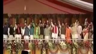 Yogi Aditiyanath CM Ceremony in Presence of Narendra Modi