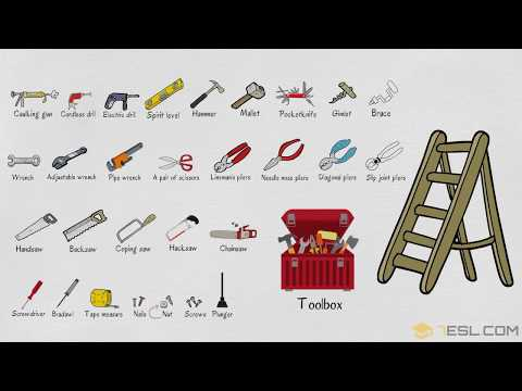 Learn Tools Names in English   Tools Vocabulary with Pictures   Hand Tools for Kids