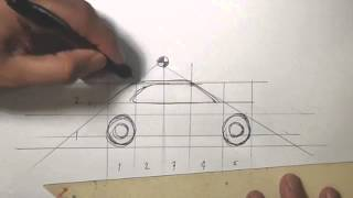 Draw Toyota Corolla Car In One Minute Using A Ball Pen