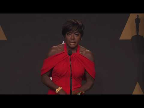 """Viola Davis """"Fences"""" Best Supporting Actress Oscars 2017 Full Press Rm Interview"""