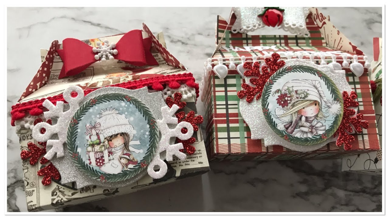 Saturday Morning Crafts #6 Christmas Gable Boxes - YouTube