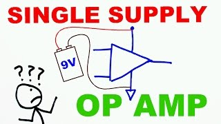 How to use op amps with a single rail power supply