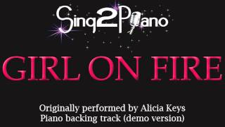 Gambar cover Girl On Fire - Alicia Keys (Piano backing track) Karaoke