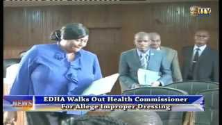 EDHA walks out Health Commissioner for allege improper dressing