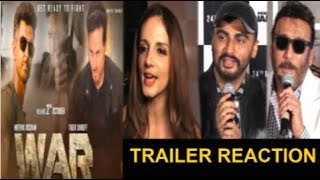 Bollywood Celebs REACTION On Hrithik Roshan & Tiger Shroff's WAR Movie Trailer