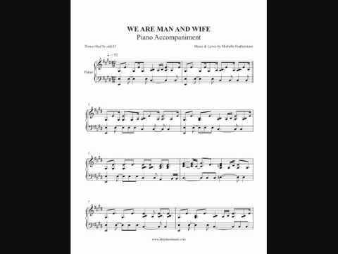 We Are Man And Wife - Michelle Featherstone (Piano Accompaniment) By Aldy Santos