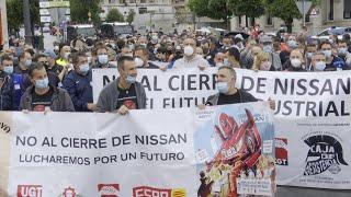 Trabajadores de Nissan-Barcelona se manifiestan por Santander