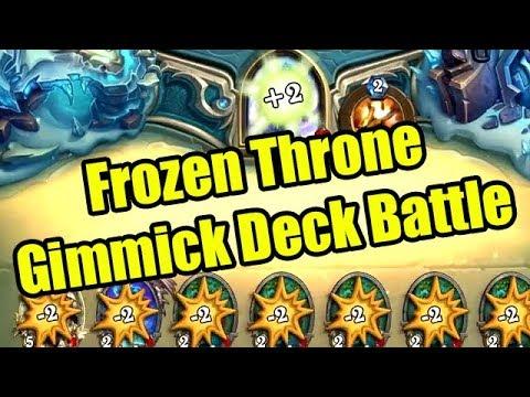 Hearthstone Frozen Throne Gimmick Deck Battles with Rob/Rurikar/OldManWillakers