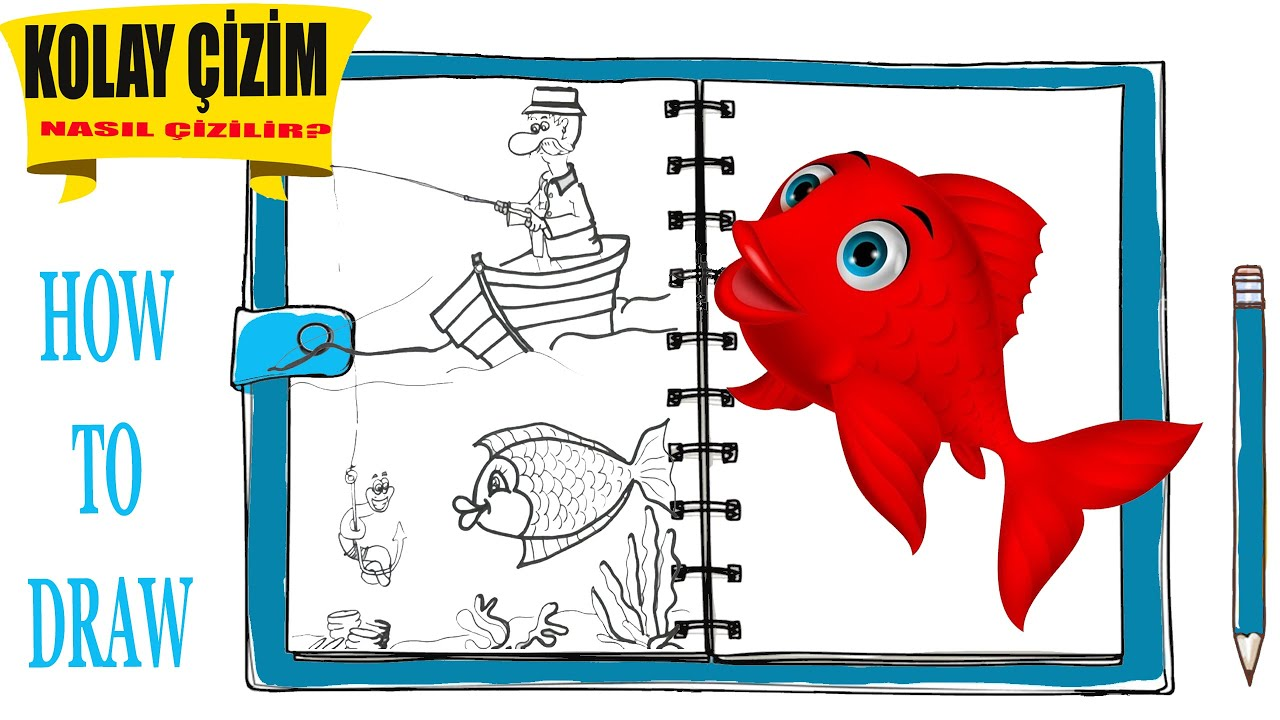 Kirmizi Balik Boyama Kitabi Red Fish Color Book Youtube