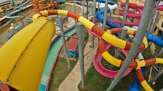 Long Aquatube Water Slide at Dino Water Park in Thailand