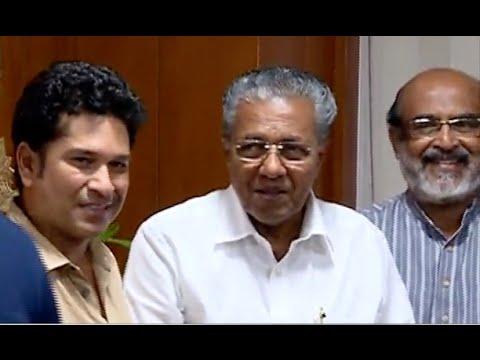 Sachin Tendulkar Visits Chief Minister Pinarayi Vijayan