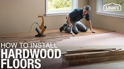 Learn How to Install Hardwood Floors | DIY Projects
