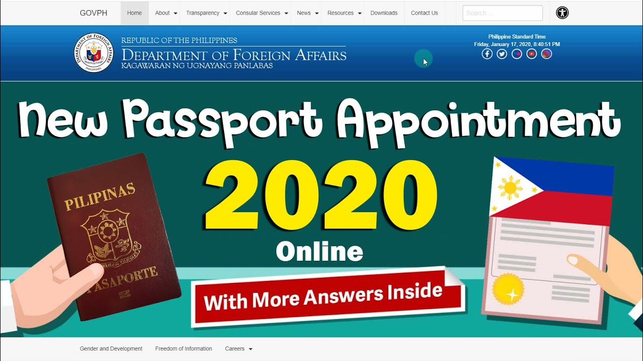 Paano mag-schedule ng passport (new applicant) appointment online 2020