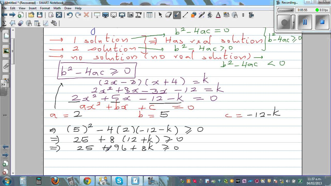 how to solve equations with all nonnegative values of x