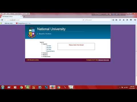 National University Result Of Bangladesh
