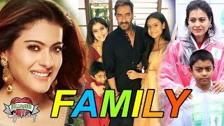 Kajol Family With Parents, Husband, Son, Daughter and Sister