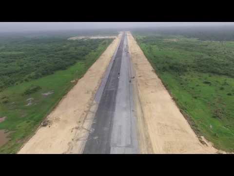 Bayelsa Airport Construction Drone Video-Mar 2017
