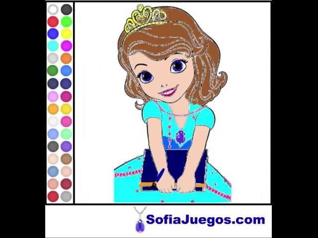 Juego Colorear Princesa Sofia Gratis Online