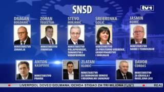 U novoj vladi RS devet starih i devet novih ministara