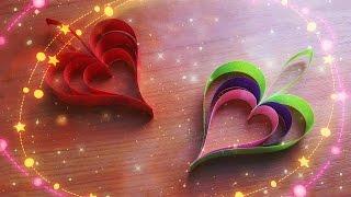 Сердечко за 2 минуты. Поделки Из Бумаги Для Декора Комнаты, Дома Своими Руками(Просто и очень быстро можно сделать из полосок бумаги красивое сердце своими руками. Сердечки можно исполь..., 2016-02-09T17:32:29.000Z)