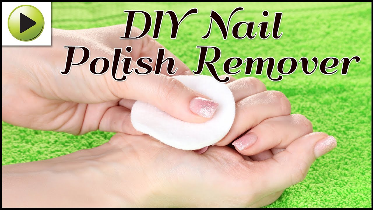 DIY Nail Polish Remover - YouTube